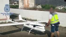 Dron intervenido en Málaga por la Policía Nacional.