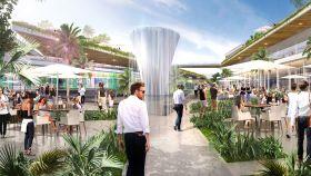 Infografía del centro comercial proyectado en Marbella.