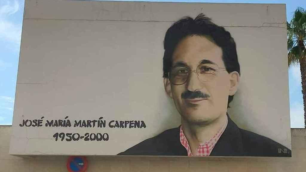 Mural de José María Martín Carpena realizado por el artista urbano Nesui SRC
