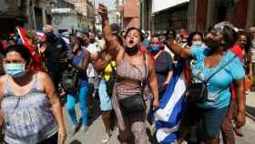Las protestas en La Habana.