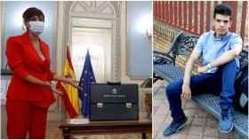 Isabel Rodríguez puso de ejemplo a Cristian, el puertollanero que quiere estudiar Matemáticas.