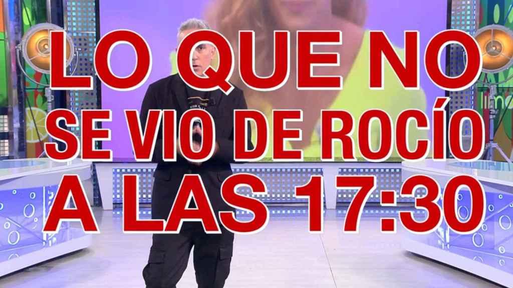 Kiko Hernández anunciando una de las 'bombas'