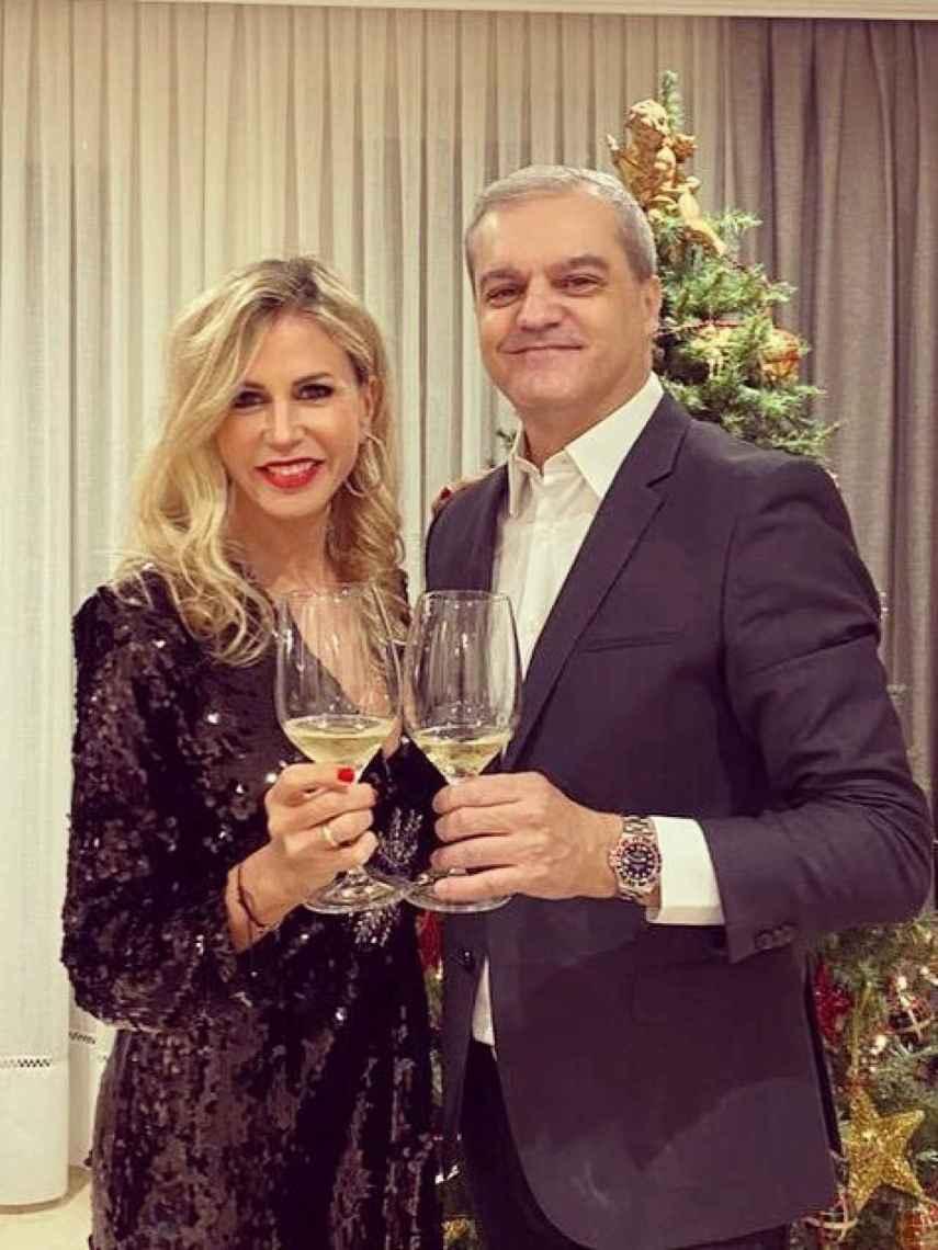 Patricia Cerezo y Ramón García, estas pasada Navidades.