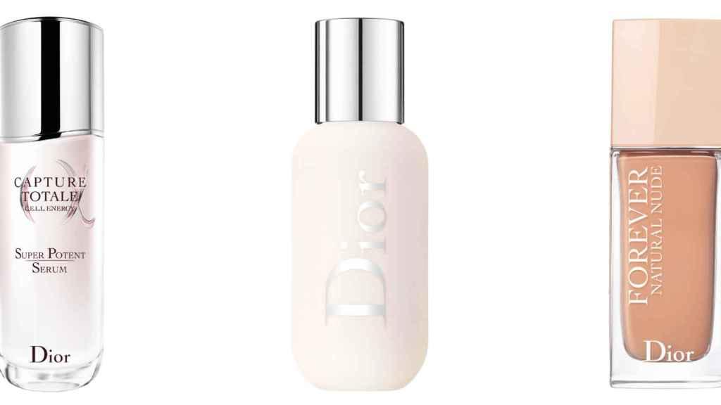 Sérum, prebase y maquillaje de Dior.