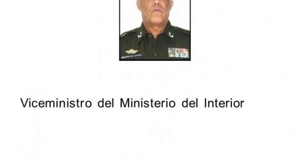 Jesús Manuel Burón Tabit, viceministro del Interior de Cuba.