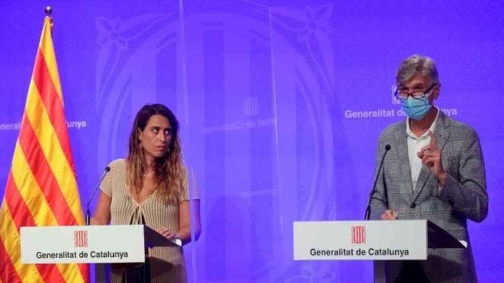 El conseller, Josep Maria Argimon, explicando las cifras