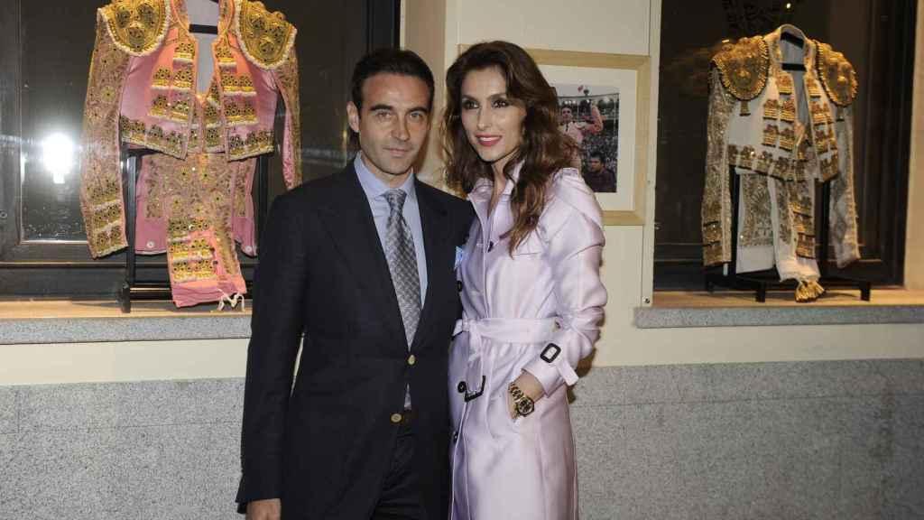 Enrique Ponce y Paloma Cuevas durante un evento en Madrid, en 2014.