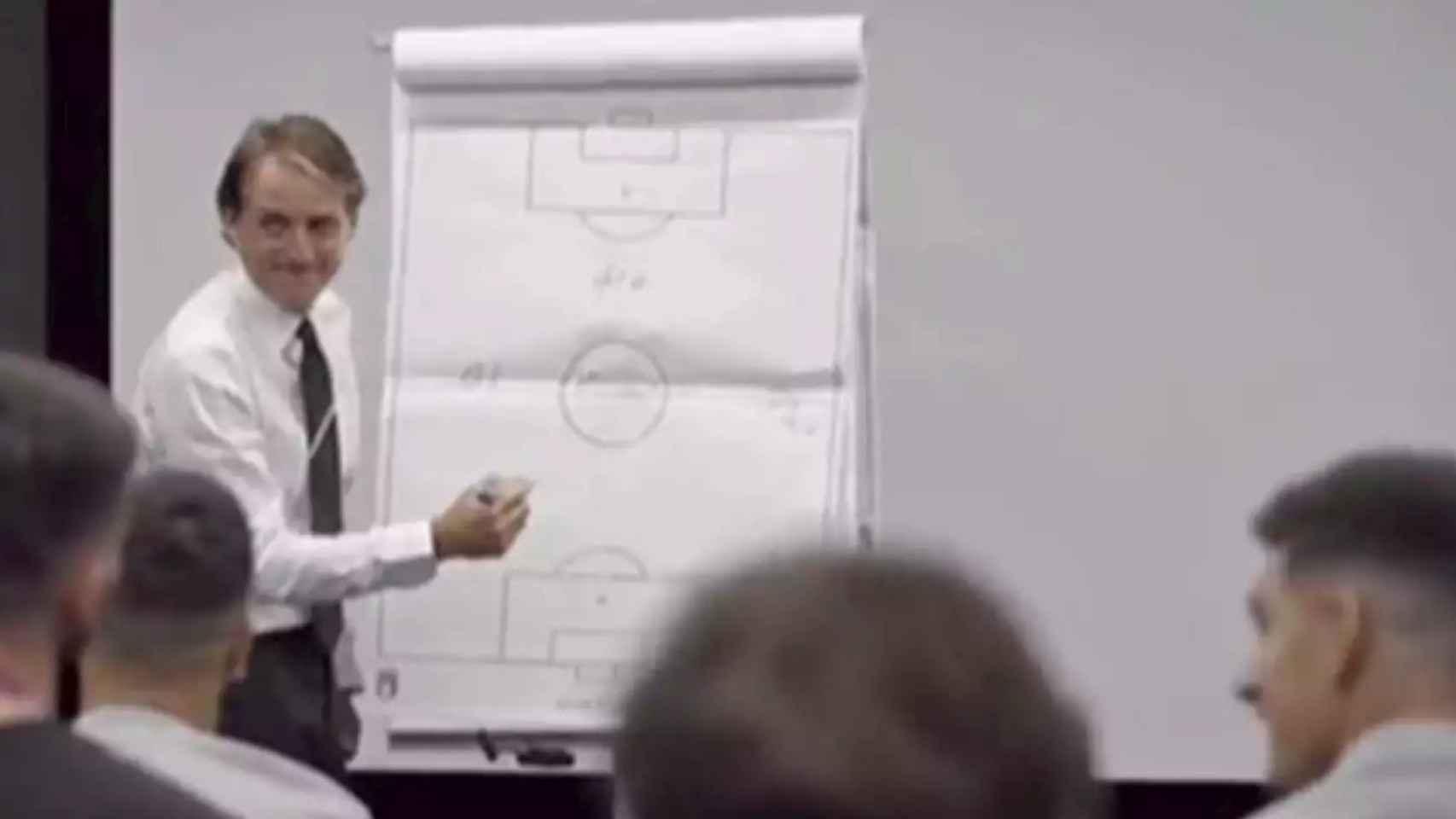 La charla de Mancini antes de la final de la Eurocopa