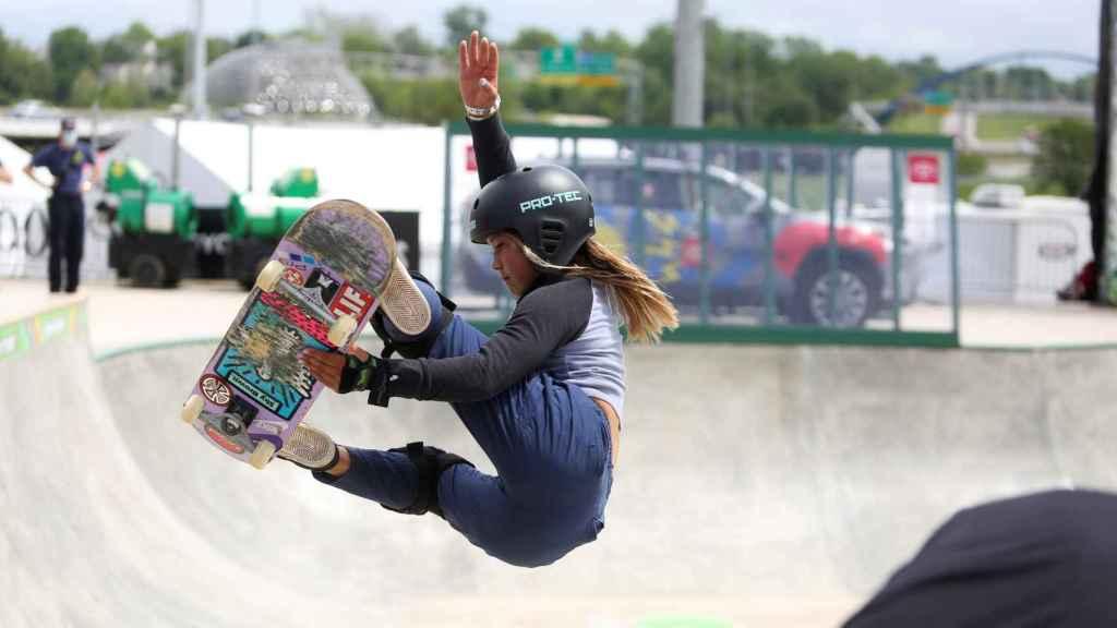 Sky Brown, durante una competición de 'Skate'