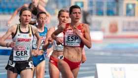 Irene Sánchez-Escribano, durante el europeo por equipos de Silesia de 2021