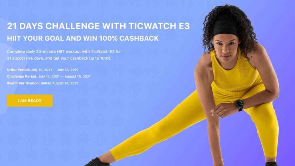 Te puedes llevar el TicWatch E3 gratis si superas el último reto de Mobvoi