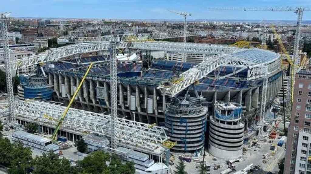 Estadio Santiago Bernabéu, en obras