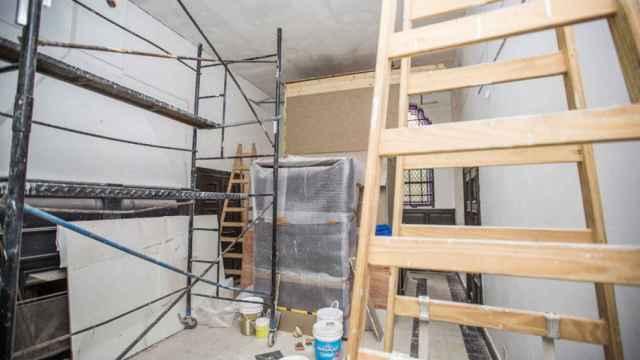 Interior de una vivienda en rehabilitación.