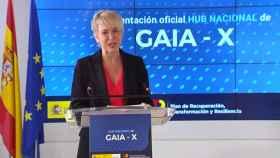 La secretaria de Estado de Digitalización e Inteligencia Artificial, Carme Artigas, durante la presentación del hub español Gaia-X.