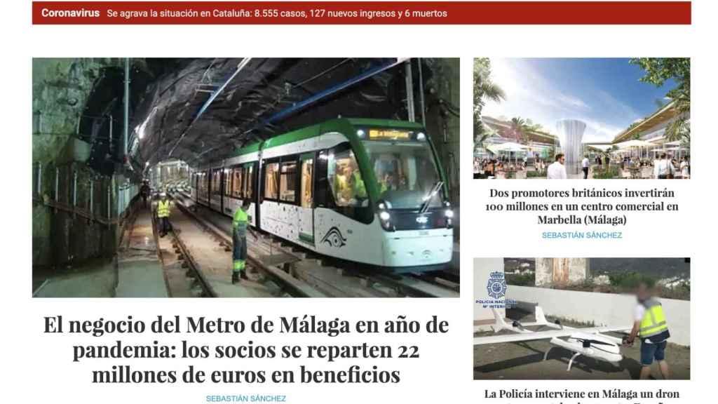 Portada de El Español De Málaga.