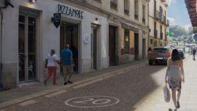 Infografía de la renovación prevista en la calle Álamos.