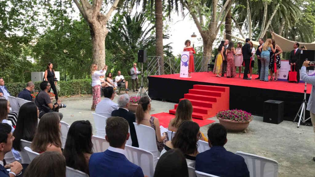 Una imagen de la entrega de premios de Educación 'Ciudad de Málaga' en su edición de 2018.