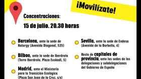 Imagen parcial del cartel de Facua contra el Tarifazo