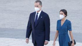 Felipe VI y Letizia en el acto de homenaje a las víctimas del Covid.