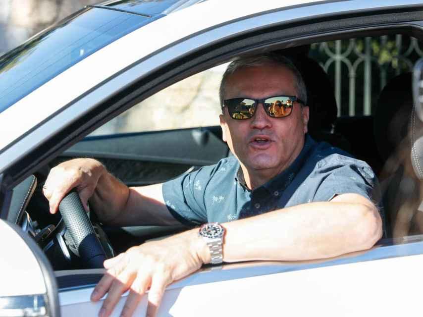 Ramón García atendiendo a los medios tras conocerse la noticia de su separación.
