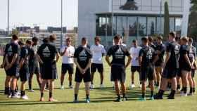 El Real Madrid Castilla, en el primer entrenamiento de la pretemporada 2021/2022