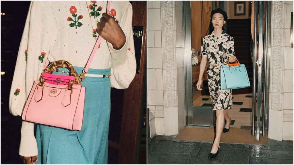 Dos versiones del 'Gucci Diana', ideado por Alessandro Michelle.