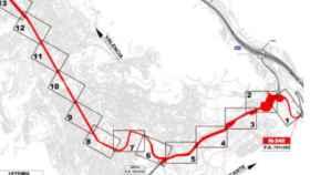 Imagen del tramo de la carretera al que afecta la cesión.