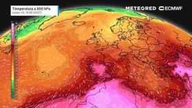 Primer episodio de calor extremo con la canícula de 2021. Meteored.