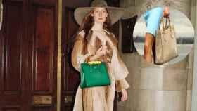 El nuevo Gucci Diana y el modelo original lucido por la Princesa de Gales en un montaje de JALEOS.