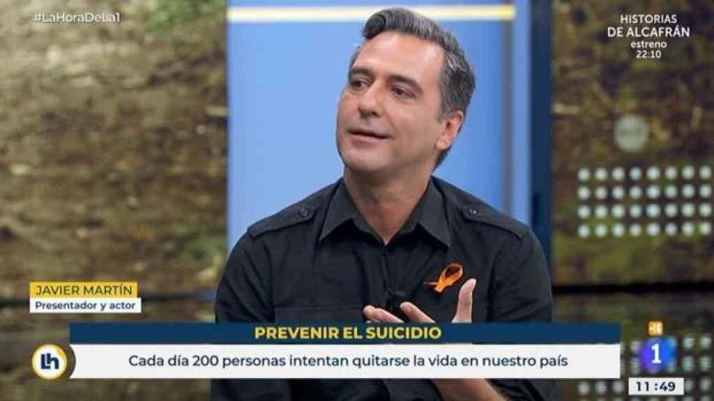 Javier Martín contando su dura experiencia en televisión.