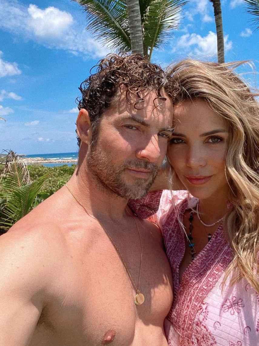 David Bisbal y Rosanna Zanetti, en una imagen compartida en redes sociales.