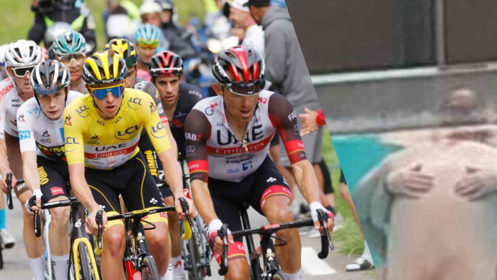 La escena íntima que se coló en el Tour de Francia