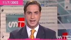El presentador de CMM Alfonso Hevia en 2002