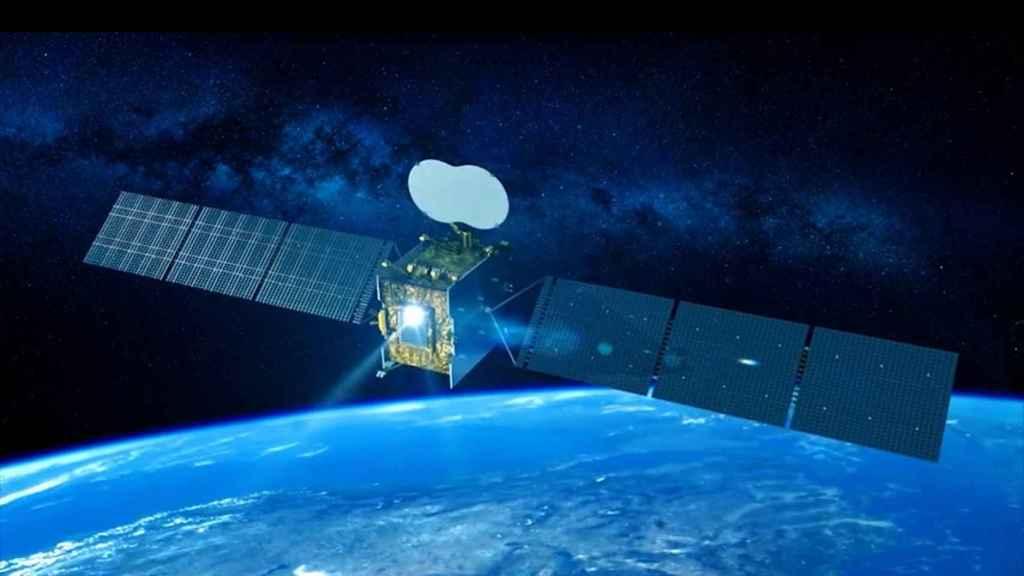 Ilustración del nuevo satélite Quantum, que lanzará este mes la Agencia Espacial Europea.