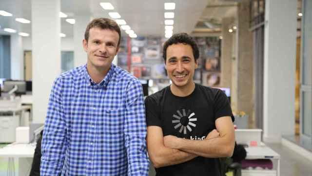 Jon Uriarte, a la izquierda, y Ander Michelena, a la derecha.