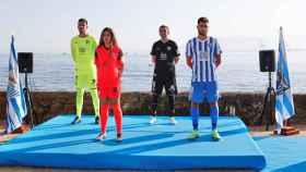 Las nuevas equipaciones del Málaga CF.