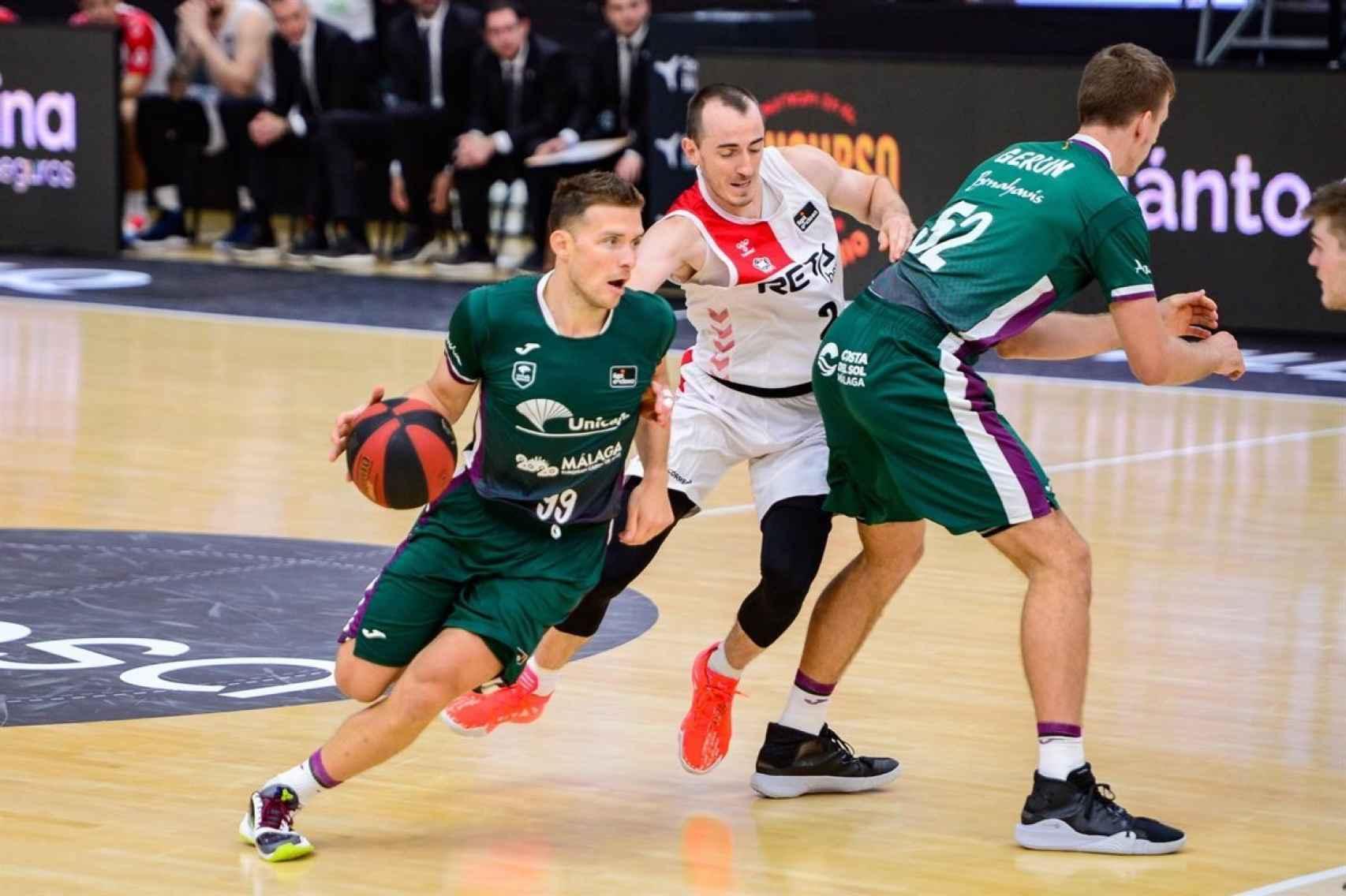 Una imagen de un partido Unicaja-Bilbao Basket.