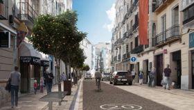 Infografía del diseño previsto para la calle Carretería.