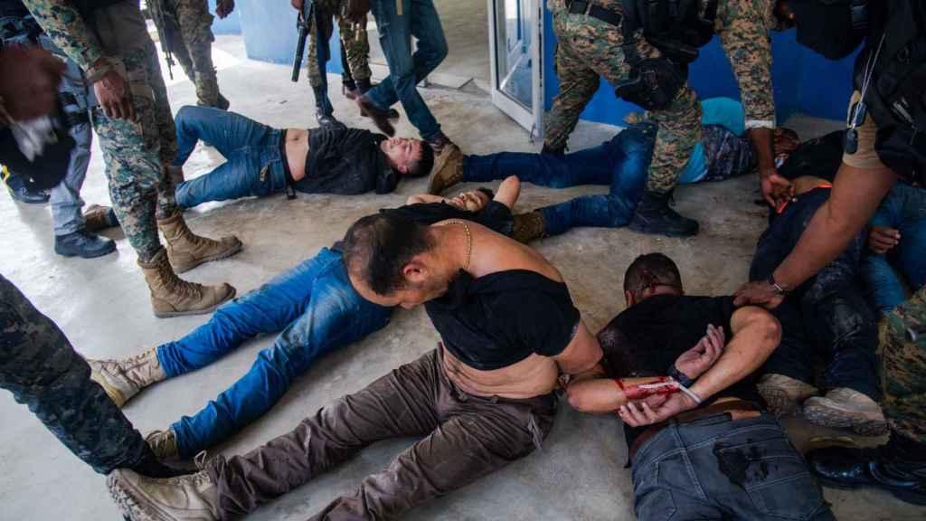 Varios de los detenidos colombianos en Haití.