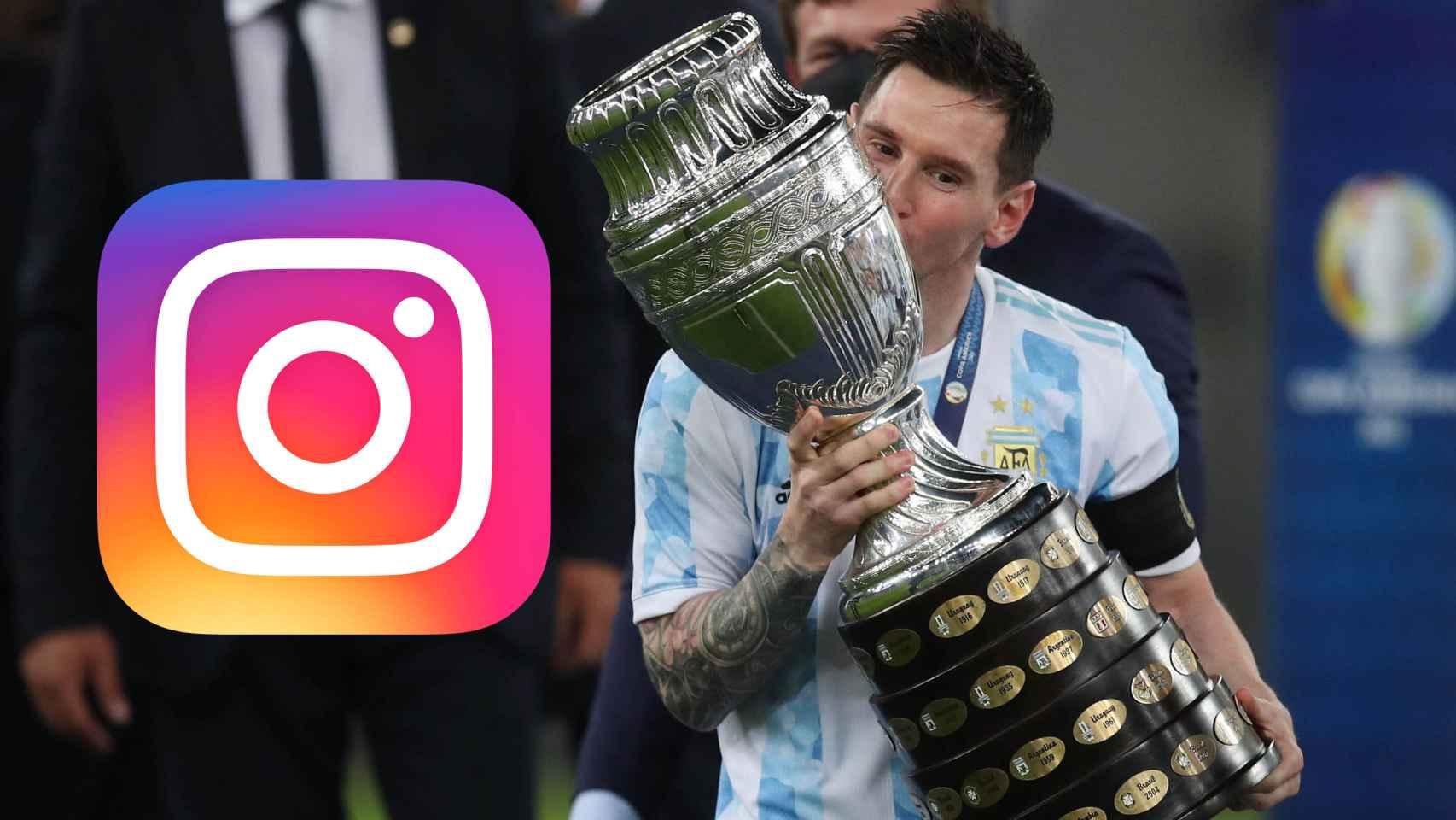 Leo Messi y la foto deportiva con más likes en Instagram