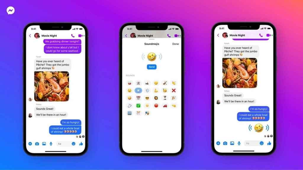 Facebook Messenger emojis sonido