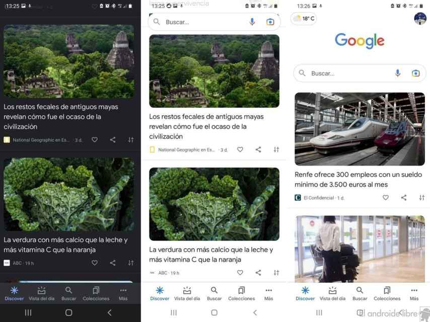 Google Discover diseño nuevo