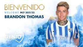 Brandon Thomas, el nuevo fichaje del Málaga CF.