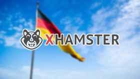 xHamster junto a la bandera alemana.