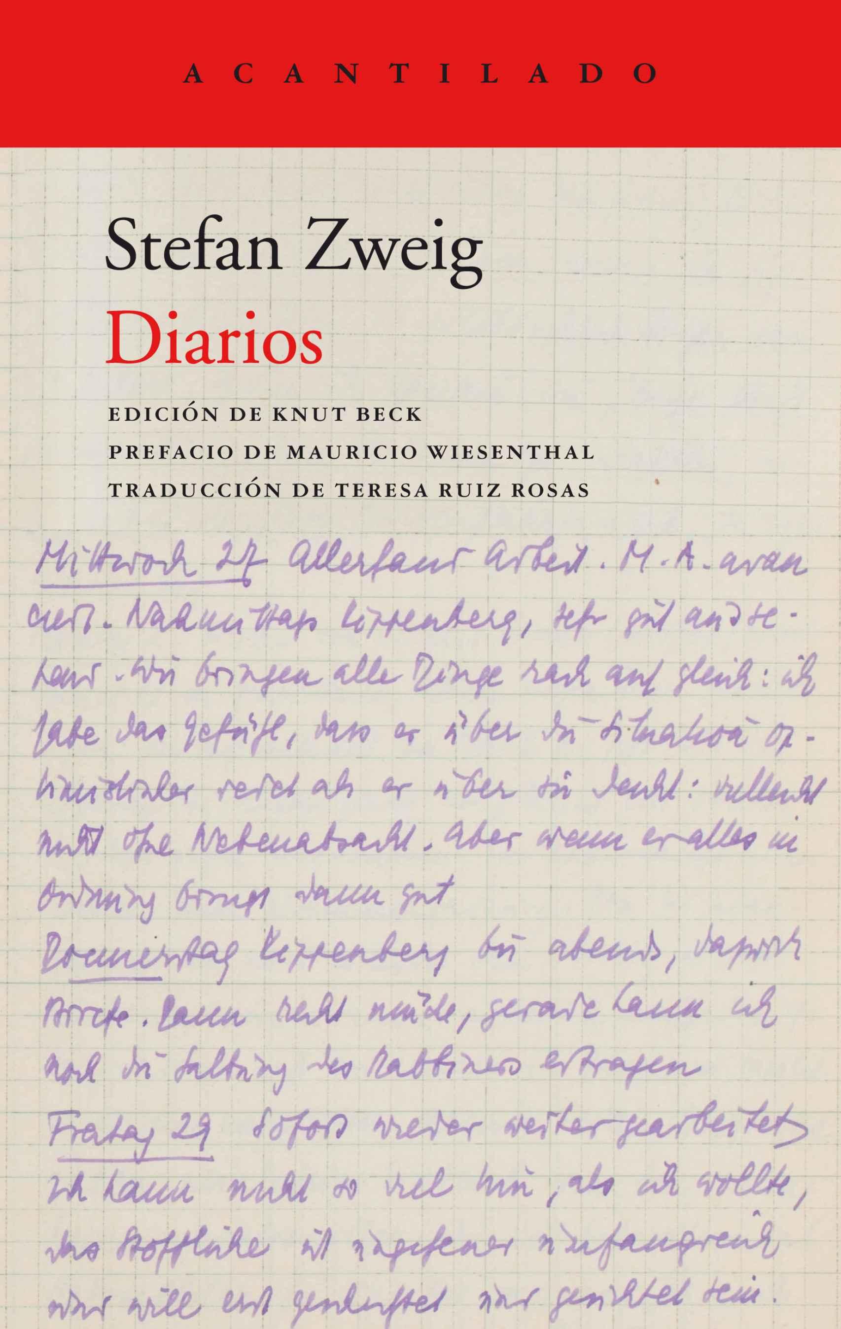 Los diarios de Zweig recientemente editados por Acantilado