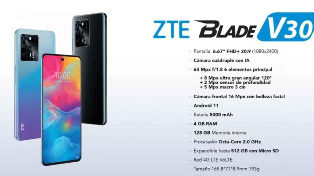 Nuevos ZTE Blade V30 y V30 Vita: especificaciones, fotos, precios...