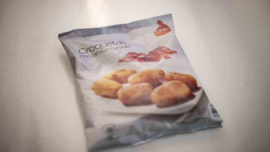 El paquete de croquetas Flete, la marca blanca de congelados de Aldi.
