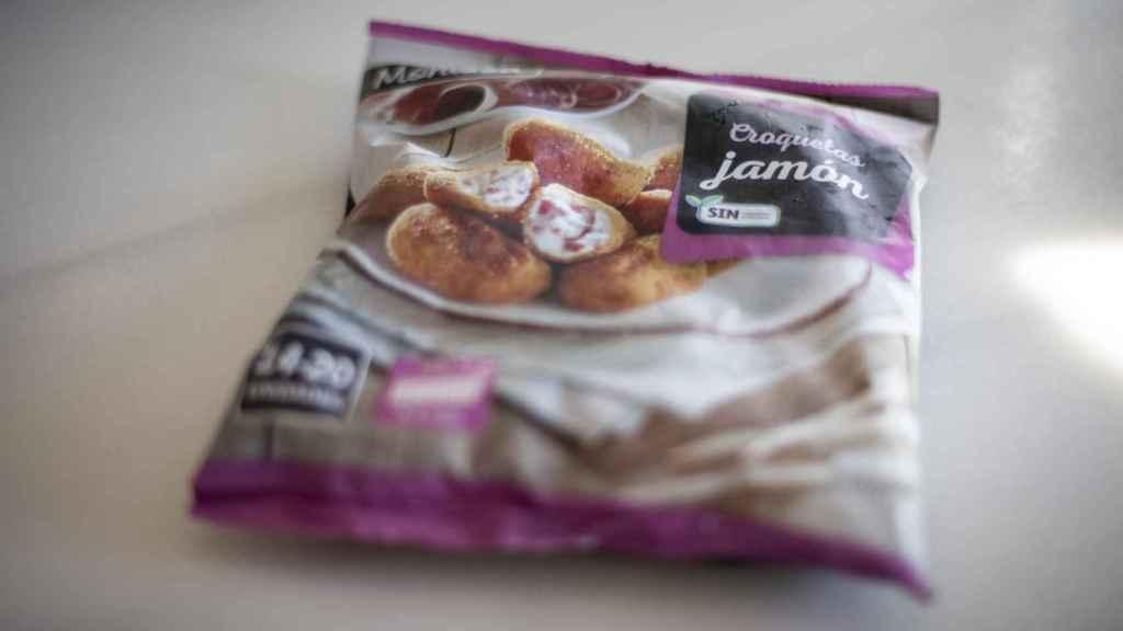 El paquete de croquetas Monissa, la marca blanca de congelados de Lidl.