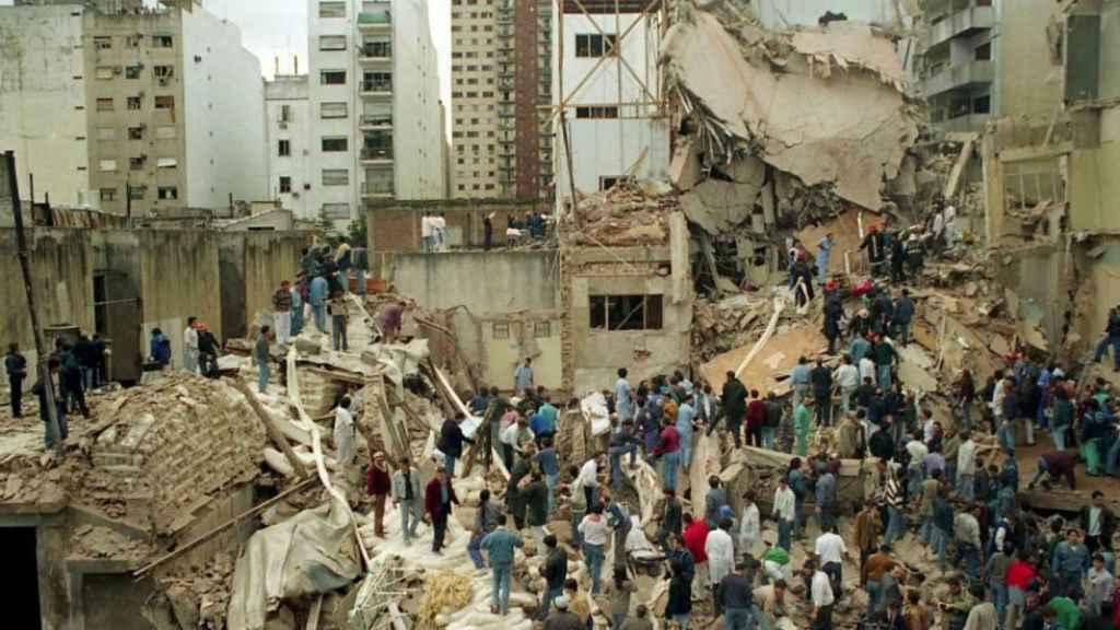 Imagen del atentado de la AMIA.