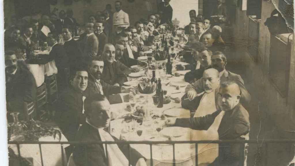 Comida política del partido conservador en Novelda, febrero de 1914.